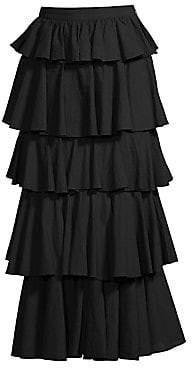 Rhode Resort Women's Romeo Tiered Ruffle Midi Skirt