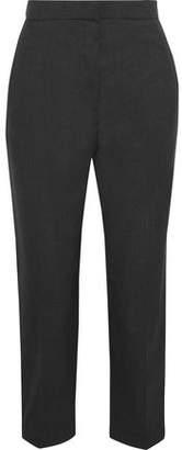 Brunello Cucinelli Cropped Wool Straight-Leg Pants