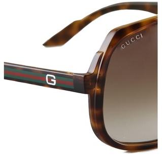 Gucci Oversized Aviator Sunglasses