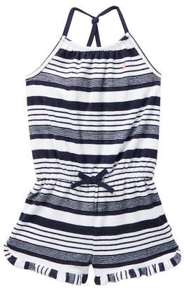 Nautica Striped Terry Knit Romper (Little Girls)