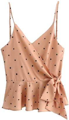 Goodnight Macaroon 'Opal' Polka Dot Wrap Strap Top