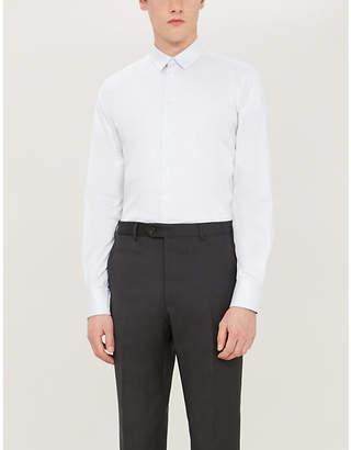 Emporio Armani Slim-fit cotton-twill shirt