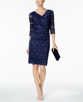 Jessica Howard Sequin-Lace Sheath Dress $109 thestylecure.com