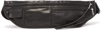 Rick Owens Zipped Leather Belt Bag - Mens - Black