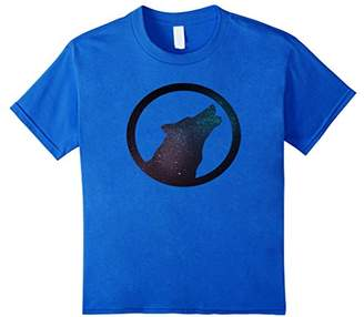 Lone Wolf and night sky t-shirt