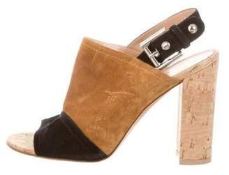 Gianvito Rossi Suede Slingback Sandals