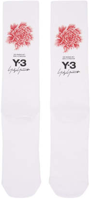 Y-3 White James Harden Graphic Logo Socks