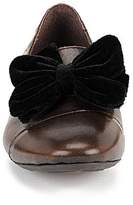 Børn Regina Burnished Leather Smoking Slippers