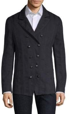 John Varvatos Double-Breasted Button Front Jacket