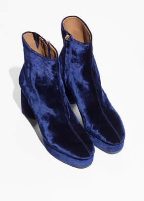 Velvet Platform Boots