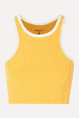 Twenty Montréal TWENTY Montreal - Roaming Giraffe 3d Stretch Jacquard-knit Sports Bra - Yellow