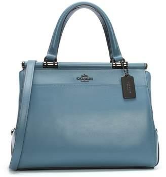 Coach Grace Dark Chambray Leather Satchel Bag