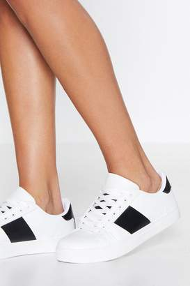 Nasty Gal Run Off Your Feet Faux Leather Sneaker