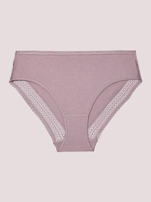 016aae6b1c16da High Cut Cotton Panty with Lace - Deesse Collection