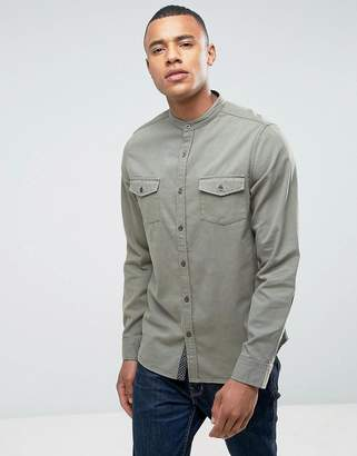 Brave Soul Twin Pocket Grandad Shirt
