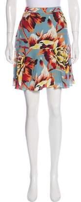 Burberry Silk Floral Print Skirt blue Silk Floral Print Skirt