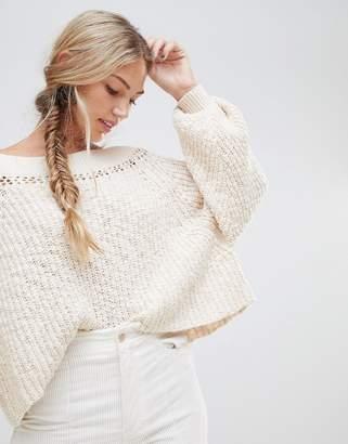 Free People Pandora chunky nep knit sweater