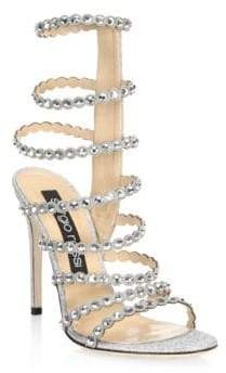 28246d16c Sergio Rossi Crystal Embellished Women s Sandals - ShopStyle