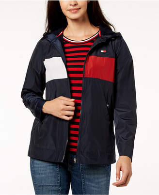 Tommy Hilfiger Hooded Windbreaker Jacket, Created for Macy's