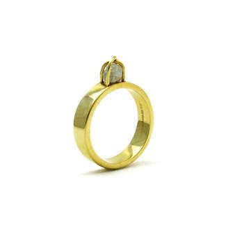 Alludio Raw Diamond Engagement Ring