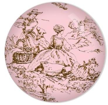 Chocolate Lullaby Toile Knob