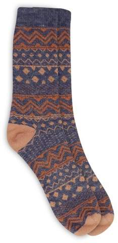 Alaska Knits Women's Stitch Crew Boot Socks - Navy 4-10