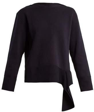 Stella McCartney Boat Neck Cotton Sweater - Womens - Navy Multi