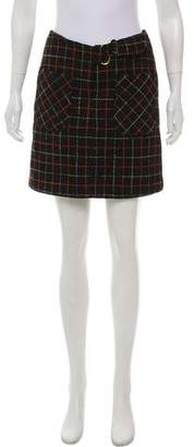 Anna Sui Wool-Blend Mini Skirt