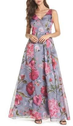 Adrianna Papell LONG ORGANZA DRESS