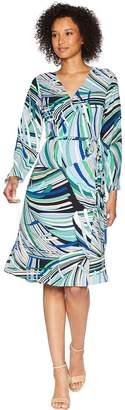 Adrianna Papell Emilio Maze Midi Wrap Dress Women's Dress