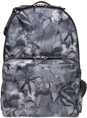 Valentino Butterfly Printed Nylon Backpack