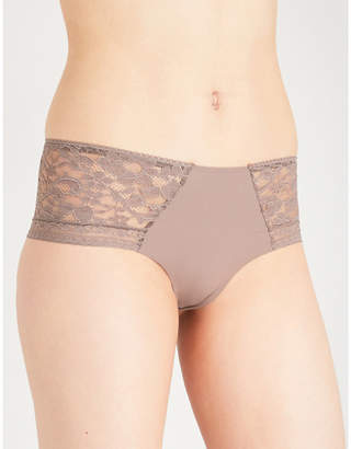 Wacoal Stretch-lace and microfibre short briefs