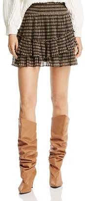 LINI Ilana Metallic Plaid Mini Skirt - 100% Exclusive
