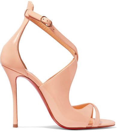 Christian Louboutin - Malefissima Patent-leather Sandals - Pastel pink