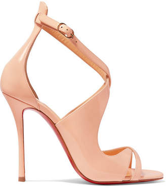 Christian Louboutin - Malefissima Patent-leather Sandals - Pastel pink $945 thestylecure.com