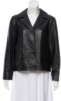 Gerard Darel Notch-Lapel Leather Jacket