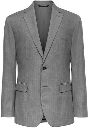 Banana Republic Slim Gray Pinstripe Italian Cotton Suit Jacket
