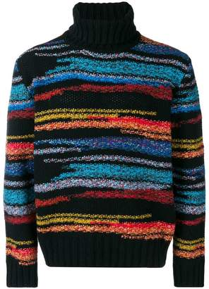 Missoni intarsia roll neck jumper