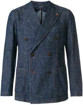 Tagliatore double breasted denim jacket