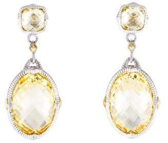 Judith Ripka Canary Crystal Drop Earrings
