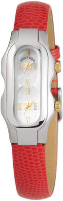 Philip Stein Teslar Mini Signature 2-Dial Watch Red\/Steel