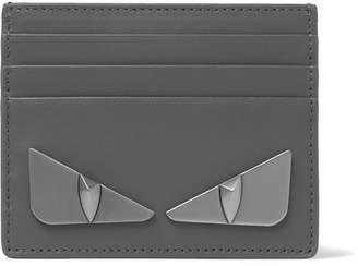 Fendi Metal Eyes Leather Cardholder
