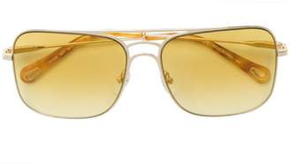 Chloé Eyewear oversized aviator sunglasses