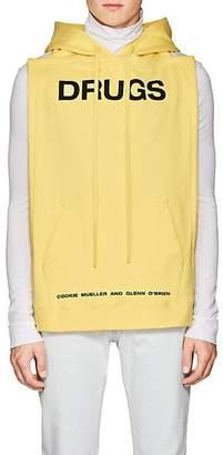 Raf Simons Men's Play-Print Cotton Terry Bib Hoodie