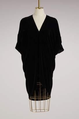 Rick Owens Velvet drapped tunique