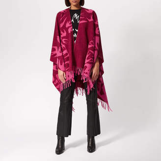 McQ Women's Cut Up Swallow Scarf - Cherry Red/Hot Pink