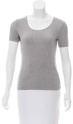Armani Collezioni Embellished Short Sleeve T-Shirt