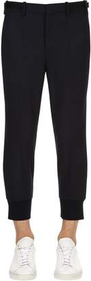 Neil Barrett 14cm Stretch Fine Gabardine Wool Pants