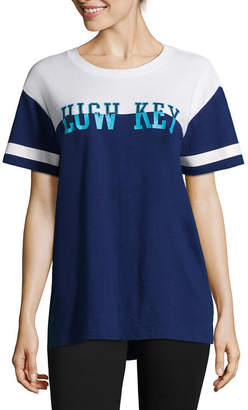 Flirtitude Low Key Oversized Tee - Juniors
