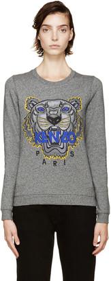 Kenzo Grey Tiger Logo Sweatshirt $260 thestylecure.com